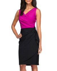 Alex Evenings | Black Colorblock Sheath Dress | Lyst