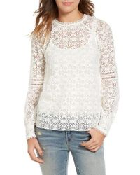 Hinge White Lace Top