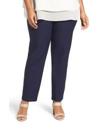 Eileen Fisher | Blue Washable Stretch Crepe Pants | Lyst