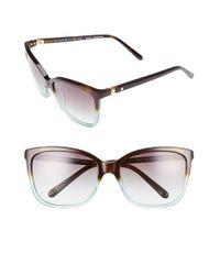 kate spade new york   Brown Kasie 55mm Cat Eye Sunglasses - Havana/ Green   Lyst