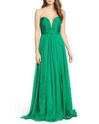 Jovani | Green Sweetheart Ballgown | Lyst