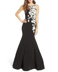 Jovani | Black Embellished Mermaid Gown | Lyst