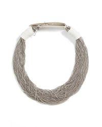 Fabiana Filippi | Metallic Multistrand Beaded Necklace | Lyst