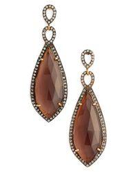 Chan Luu | Brown Semiprecious Stone Drop Earrings | Lyst