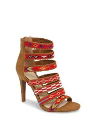Jessica Simpson | Red Erienne Cage Sandal | Lyst