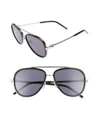 Marc Jacobs | Gray 56mm Aviator Sunglasses | Lyst