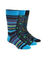 Bugatchi Assorted 3-pack Mercerized Cotton Blend Socks, Blue for men