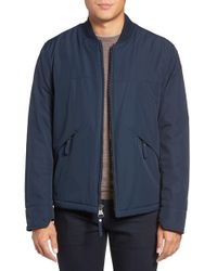 Marc New York | Blue By Andrew Marc Dalton City Rain Bomber Jacket With Faux Shearling Lining for Men | Lyst