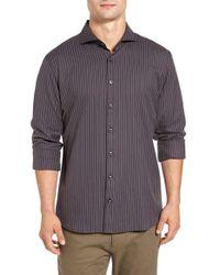 Singer + Sargent | Black Regular Fit Pinstripe Sport Shirt for Men | Lyst