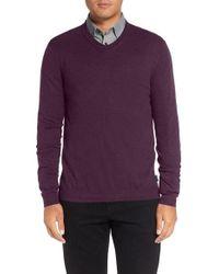 Ted Baker | Purple V-neck Sweater for Men | Lyst