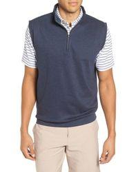 Peter Millar | Blue Quarter Zip Vest for Men | Lyst