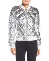 Alo Yoga | Metallic Idol Down Bomber Jacket | Lyst