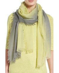 Eileen Fisher | Yellow Ombre Scarf | Lyst