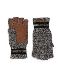 Polo Ralph Lauren - Black Ragg Merino Wool Blend Fingerless Gloves for Men - Lyst