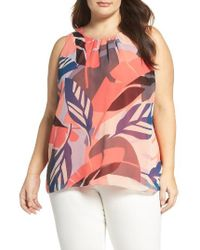 Vince Camuto | Pink Modern Tropics Tank | Lyst