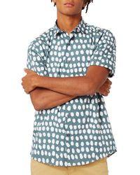 TOPMAN - Blue Dot Print Shirt for Men - Lyst