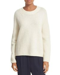 Vince | White Oversize Wool & Cashmere Sweater | Lyst
