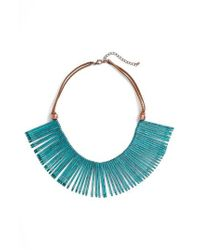 Panacea - Green Statement Necklace - Lyst