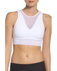 Alo Yoga - White Jubilee Sports Bra - Lyst
