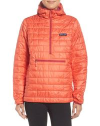 Patagonia | Orange Nano Puff Bivy Water Resistant Jacket | Lyst
