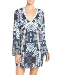 Red Carter | Blue Print Cover-up Caftan | Lyst