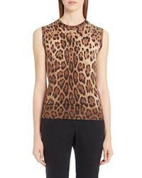 Dolce & Gabbana   Multicolor Leopard Print Silk & Cashmere Sweater   Lyst