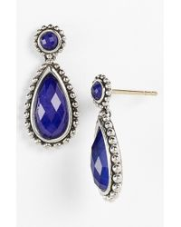 Lagos | Blue 'maya' Teardrop Earrings | Lyst