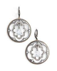Jenny Packham - Metallic Orbital Hoop Earrings - Lyst