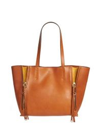 Chloé | Brown Medium Milo Calfskin Leather Tote | Lyst