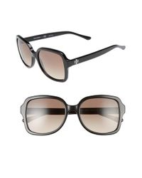 Tory Burch | Black 55mm Square Sunglasses | Lyst
