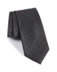Calibrate | Gray Handmade Dot Silk Tie for Men | Lyst