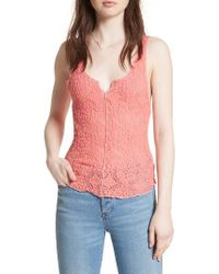 Free People   Multicolor Piece Dye Lace Camisole   Lyst
