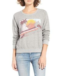 Billabong | Gray Drift On The Sea Graphic Sweatshirt | Lyst