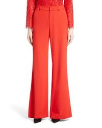 Alice + Olivia | Pink Paulette High Waist Flared Pants | Lyst