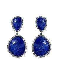 Susan Hanover | Blue Semiprecious Stone Drop Earrings | Lyst