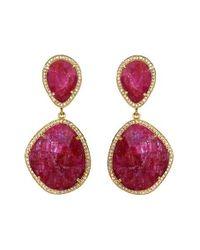 Susan Hanover | Purple Semiprecious Stone Drop Earrings | Lyst