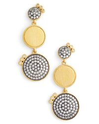 Freida Rothman | Metallic Baroque Blues Linear Earrings | Lyst
