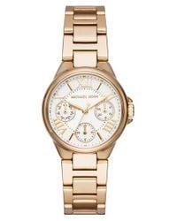 MICHAEL Michael Kors - Metallic Mini Camille Multifunction Bracelet Watch - Lyst