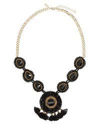 Panacea | Black Beaded Tassel Necklace | Lyst