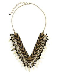 Panacea | Black Beaded Fringe Necklace | Lyst