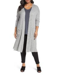 Sejour   Gray Duster Cardigan   Lyst