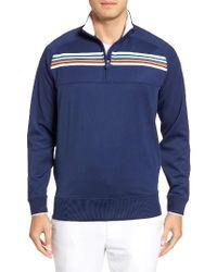 Bobby Jones | Blue Xh20 Chest Stripe Quarter Zip Pullover for Men | Lyst