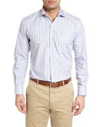 Peter Millar - Blue Inlet Check Sport Shirt for Men - Lyst