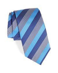 David Donahue | Blue Stripe Silk Tie for Men | Lyst