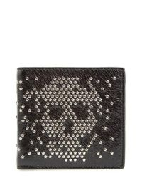 Alexander McQueen | Black Studded Leather Wallet for Men | Lyst