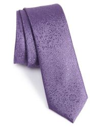 Calibrate | Purple Dressy Floral Silk Skinny Tie for Men | Lyst