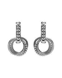 Lagos - Metallic 'link' Circle Drop Earrings - Lyst