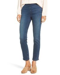 NYDJ | Blue Millie Pull-on Stretch Ankle Skinny Jeans | Lyst