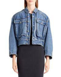 Dolce & Gabbana | Blue Oversize Denim Jacket | Lyst