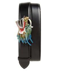 Gucci - Black Dragon Buckle Leather Belt for Men - Lyst